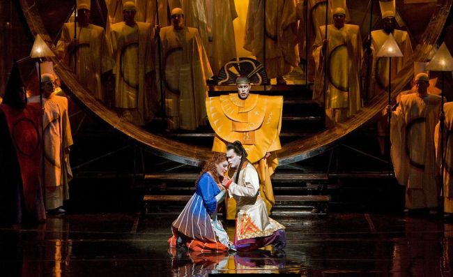 "A scene from the abridged, English-language holiday presentation of Mozart's ""The Magic Flute."" Photo: Cory Weaver/Metropolitan Opera"