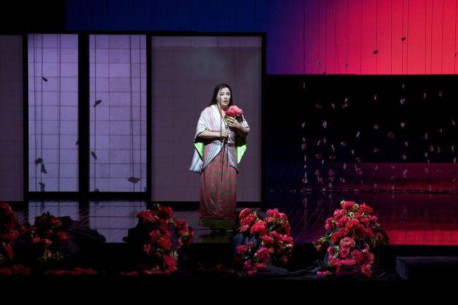 "A scene from Puccini's ""Madama Butterfly,"" with Patricia Racette as Cio-Cio-San.  Photo: Marty Sohl/Metropolitan Opera"