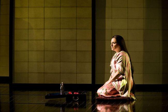 "Patricia Racette as Cio-Cio-San in Puccini's ""Madama Butterfly."" Photo: Marty Sohl/Metropolitan Opera"