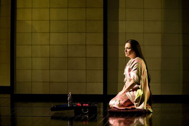 "Patricia Racette as Cio-Cio-San in Puccini's ""Madama Butterfly."" Photo: Marty Sohl/Metropolitan Opera"