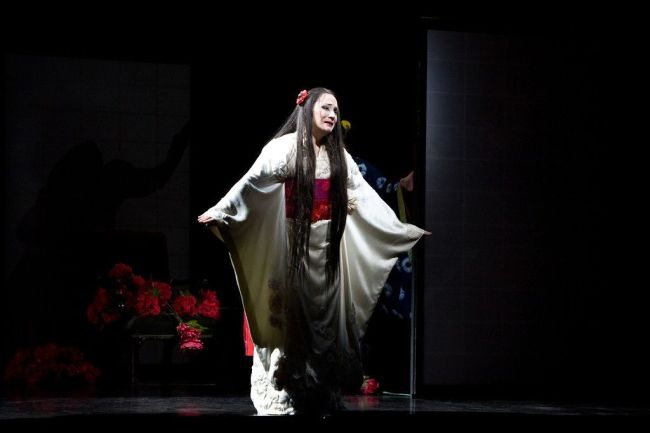 "Patricia Racette as Cio-Cio-San in Puccini's ""Madama Butterfly.""  Photo: Marty Sohl/Metropolitan Opera."