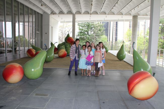 Photos with the modern fruit