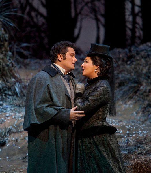 "Piotr Beczala as Edgardo and Anna Netrebko in the title role of Donizetti's ""Lucia di Lammermoor."" Photo: Ken Howard/Metropolitan Opera"