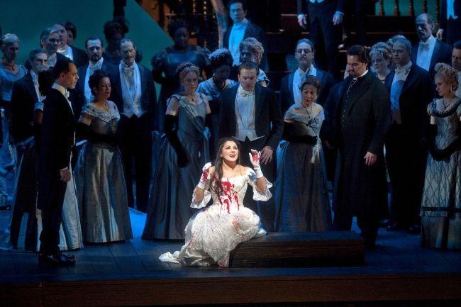 "Anna Netrebko in the title role of Donizetti's ""Lucia di Lammermoor."" Photo: Ken Howard/Metropolitan Opera"