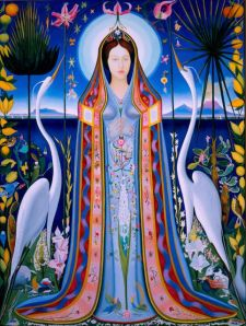Purissima by Joseph Stella 1927 Oil on Canvas. Purchase with funds from Harriet and Elliott Goldstein and High Museum of Art Enhancement Fund