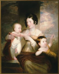 Portrait of Mrs. Morse and Two Children by Samuel F. B. Morse 1824 Oil on Canvas. Gift of Sandra Morse Hamilton and Patricia Morse Sawyer in memory of Bleecker, Patricia, and Bleecker Morse, Jr., and through prior gift of Margaret and John L. Hoffman.