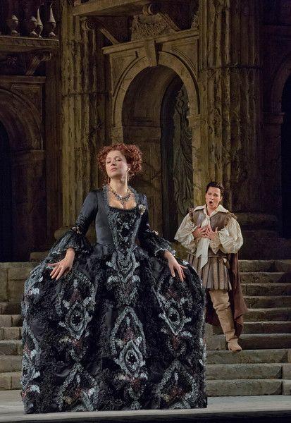 "Barbara Frittoli as Vitellia and Elīna Garanča as Sesto in Mozart's ""La Clemenza di Tito.""  Photo: Ken Howard/Metropolitan Opera"