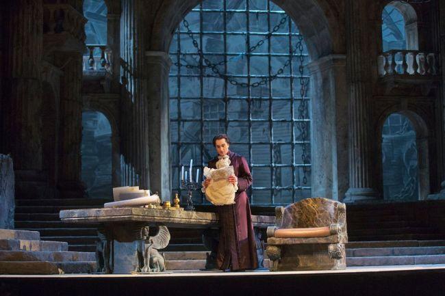 "Giuseppe Filianoti as the title role of Mozart's ""La Clemenza di Tito.""  Photo: Ken Howard/Metropolitan Opera"