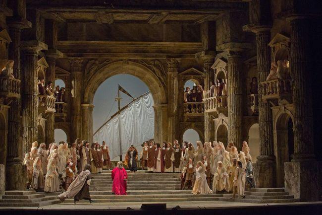 "A scene from Mozart's ""La Clemenza di Tito.""  Photo: Ken Howard/Metropolitan Opera"