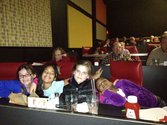 Lucy, Layla, Isabel & Grace at AMC Fork & Screen