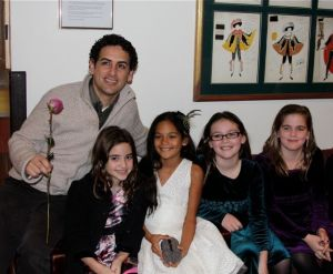 The Posse with Juan Diego Flores backstage after the performance