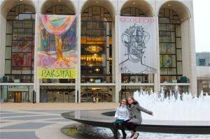 Lucy & Isabel outside the MET