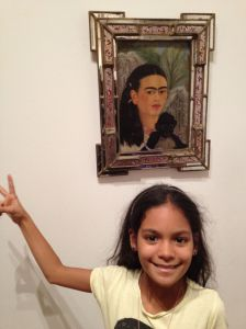 Layla with Frida Kahlo