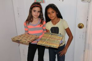 Layla and Lexi with their books