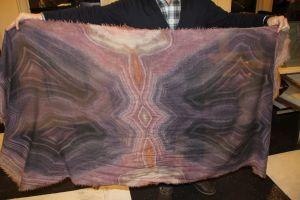 Geode print scarves