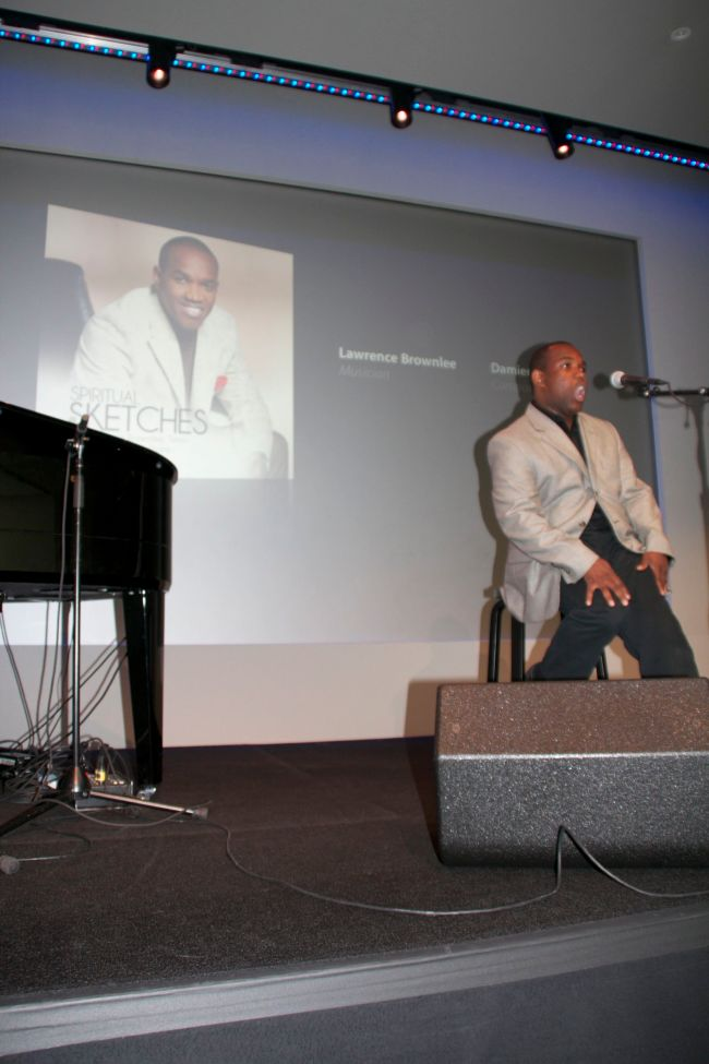 Lawrence Brownlee performing at the Apple Store SoHo