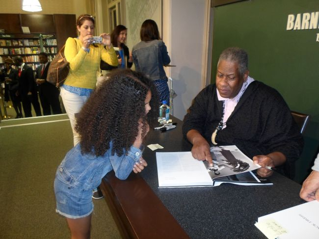 Layla & Mr. Talley signing her book