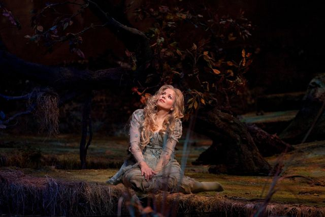 "Renée Fleming in the title role of Dvořák's ""Rusalka."" Photo: Ken Howard/Metropolitan Opera"