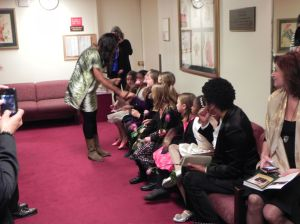 The Posse meeting Pretty Yende backstage after the performance