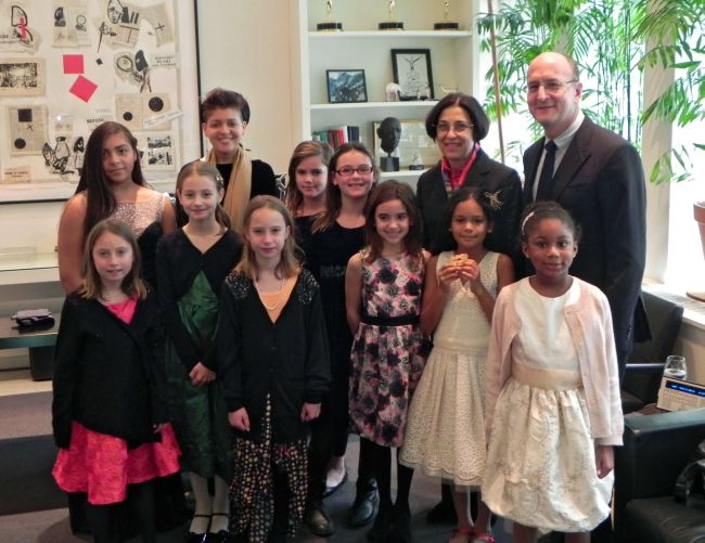 Peter Gelb, Jeanette Neubauer, and The Kids Opera & Art Posse