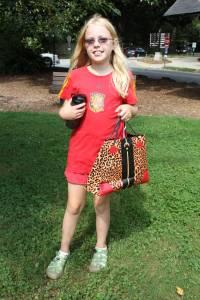 Esme with gift bag