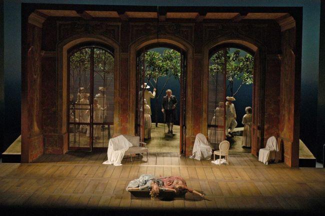 """A scene from Mozart's """"Così fan tutte."""" Photo: Marty Sohl/Metropolitan Opera"""