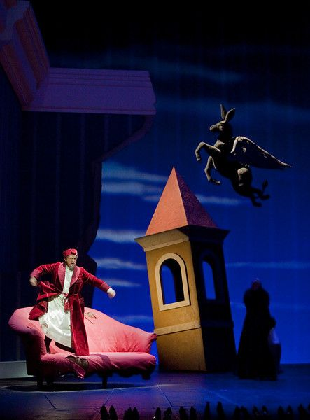 "Alessandro Corbelli as Don Magnifico in Rossini's ""La Cenerentola.""  Photo: Ken Howard/Metropolitan Opera"