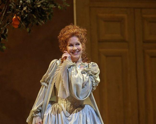 """Joyce DiDonato as Rosina in Rossini's """"Il Barbiere di Siviglia."""" Photo: Ken Howard/Metropolitan Opera"""