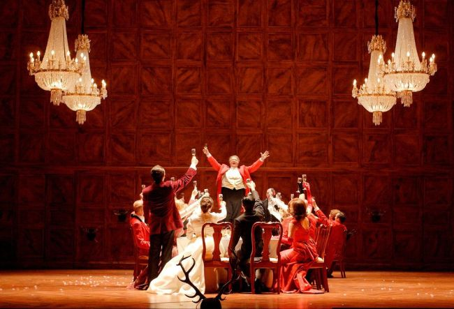 "A scene from a new production of Verdi's ""Falstaff.""  Royal Opera House Photo: Catherine Ashmore"