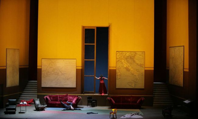 "A scene from Act II of Puccini's ""Tosca.""  Photo: Ken Howard/Metropolitan Opera"