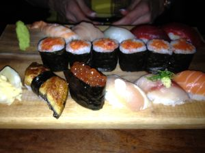 Yum- Sushi at Blue Ribbon Sushi