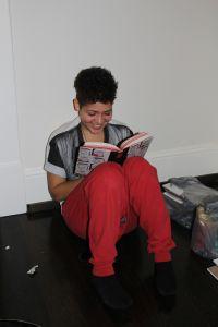 Maya loving our books