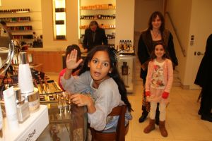 Barney's makeup counter with Lexi & Roula