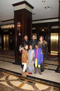 Lexi, Layla & Grace with Leslie, Trey & Roula