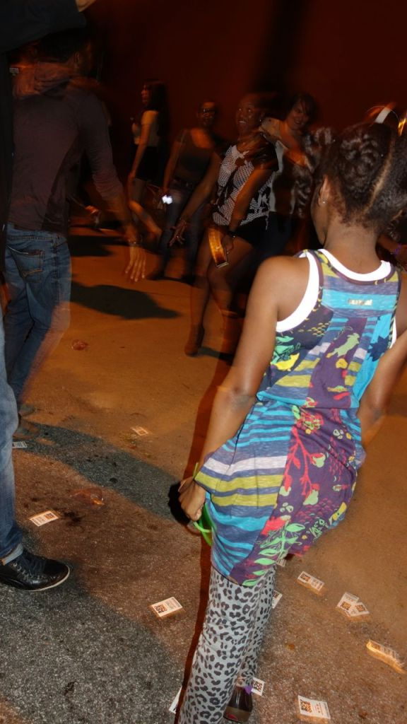 DJ Circle and impromptu street dance party
