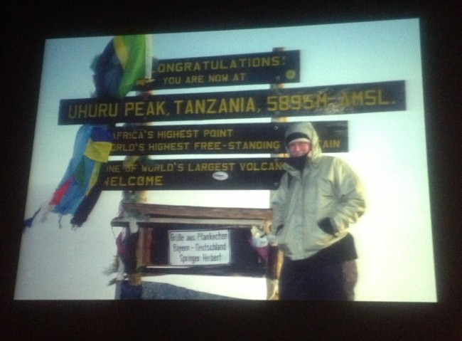 Alison summiting Mt. Kilimanjaro 2 years after her horrific accident