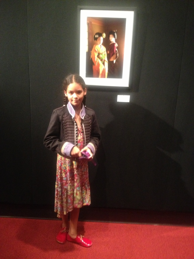 Layla at the Alison Wright exhibition