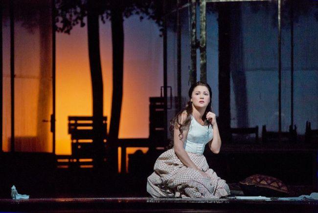 """Anna Netrebko as Tatiana in Tchaikovsky's """"Eugene Onegin."""" Photo: Ken Howard/Metropolitan Opera"""