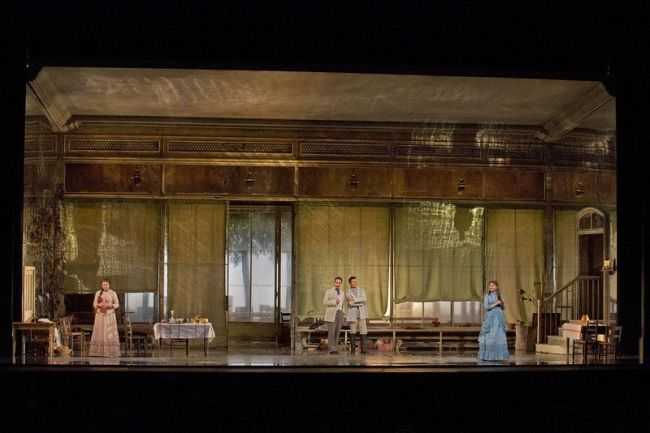 "A scene from Act I of Tchaikovsky's ""Eugene Onegin."" Photo: Ken Howard/Metropolitan Opera"