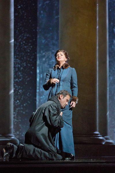 "Mariusz Kwiecien as the title character and Anna Netrebko as Tatiana in Tchaikovsky's ""Eugene Onegin."" Photo: Ken Howard/Metropolitan Opera"