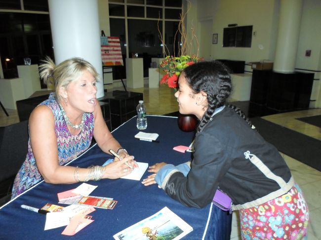 Layla and Alison discussing her book