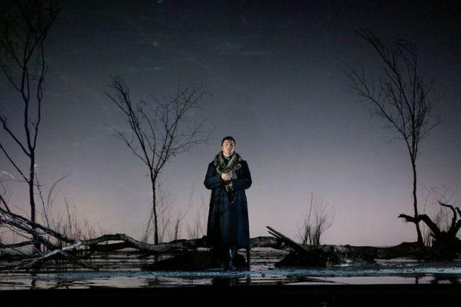 """Piotr Beczala as Lenski and Oksana Volkova as Olga in Tchaikovsky's """"Eugene Onegin."""" Photo: Ken Howard/Metropolitan Opera"""