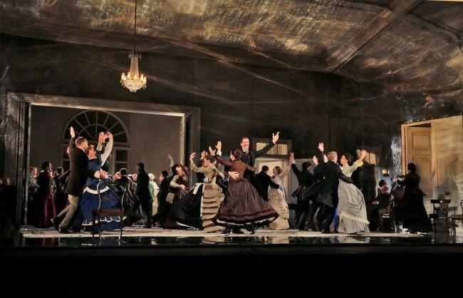 "A scene from Act II of Tchaikovsky's ""Eugene Onegin."" Photo: Ken Howard/Metropolitan Opera"