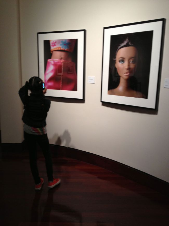 Layla photographing Shiela Pree-Bright Barbie images