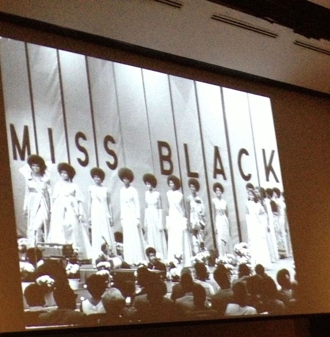 """Slideshow image of early """"Miss Black USA"""" contest"""