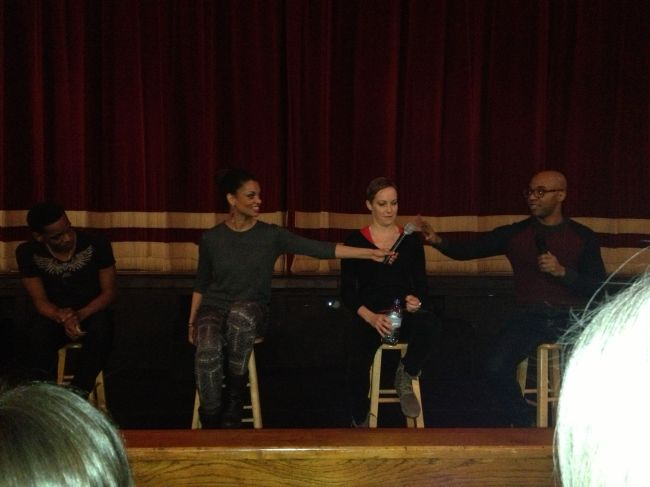 Dancers during Q & A