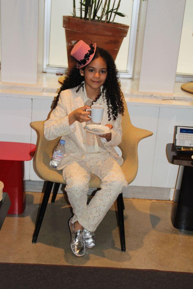 Layla having Hot Chocolate