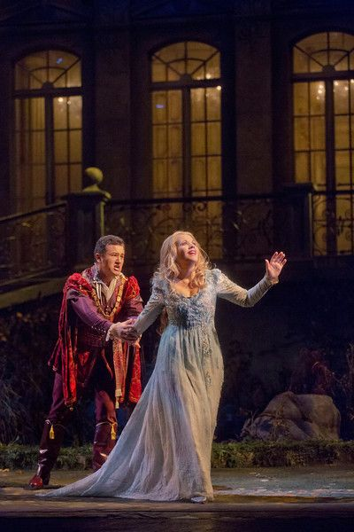 "Piotr Beczala as the Prince and Renée Fleming in the title role of Dvořák's ""Rusalka."" Photo: Ken Howard/Metropolitan Opera"