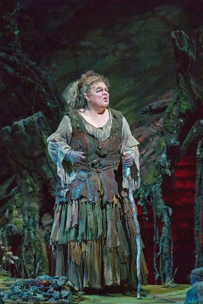 "olora Zajick as Ježibaba in Dvořák's ""Rusalka."" Photo: Ken Howard/Metropolitan Opera"