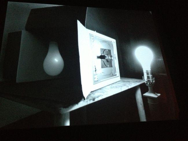 Abelardo's basic cardboard box camera with lens